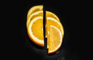Frisch geschnittene Orange