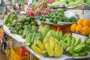 Frische Früchte auf dem Ben Thanh Touristenmarkt in Ho Chi Minh City
