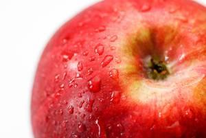 Frischer Apfel (Nahaufnahme)