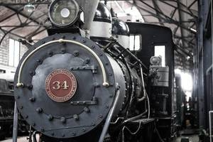 Front part of a Locomotive