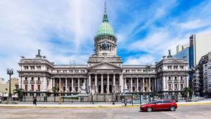 Front square of Palace of the Argentine National Congress / Vorplatz des Palastes des argentinischen National Congress