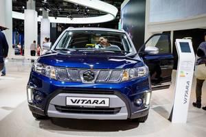 Frontansicht vom Suzuki Vitara bei der IAA 2017 in Frankfurt am Main