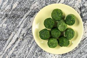 Frozen cubes of Spinach