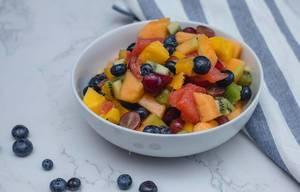 Fruit Salad in a Bowl in a White Bowl  (Flip 2019) (Flip 2019)