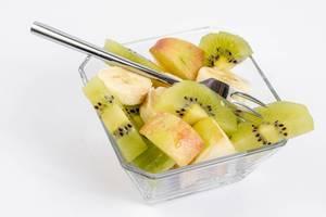 Fruit salad with Apple Banana and Kiwi