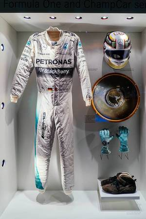 Full racing equipment of F1 world champion Nico Rosberg