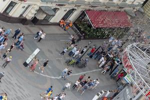 Fußgängerzone unweit vom Lubjanka Platz