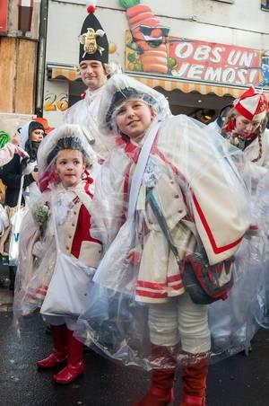Fußgruppe zu Karneval