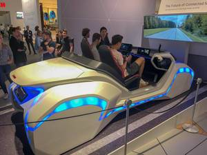 Futuristic looking driving simulator by Bosch