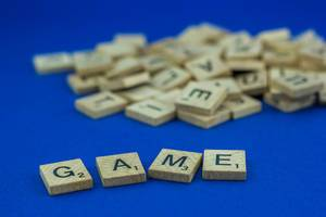 Game Written with Wood Letters