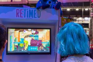 Gamescom 2018 visitors playing Retimed
