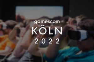 Gamescom Köln 2022 Bild zeigt Spielemesse-Besucher mit VR-Brillen