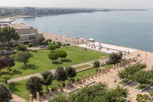 Gedenkpark und das Königliche Theater in Thessaloniki
