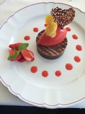 Geeistes Schokoladenfondant Sorbet, Früchte #foodporn #foodfestival #instafood #sweets #instafood #happy #yummy #dessert #fresstag