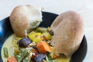 Gelbes Curry mit Ofengemüse von Hellofresh