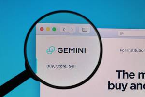 Gemini logo under magnifying glass