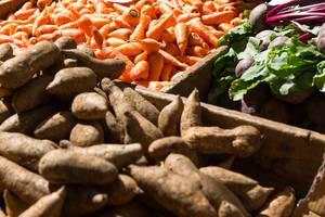 Gemüse auf dem Mercado dos Lavradores in Funchal