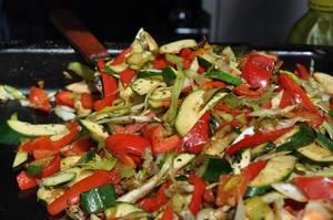 Gemüsepfanne auf Street Food Festival Köln