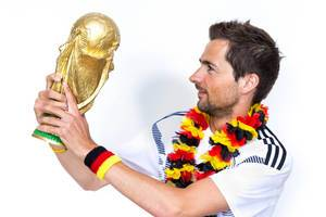 German fans: looking forward to defending the title