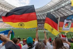 German flags in the Luzhniki stadium