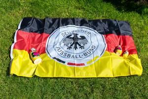 German Football Association flag and babushka dolls