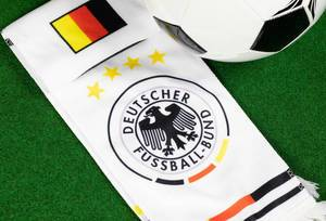 German Football Association logo on scarf