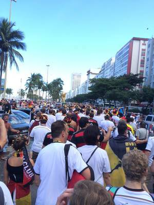 German soccer fans on the streets of Rio de Janeiro – FIFA World Cup 2014, Brazil