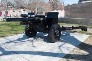 Geschütz aus dem ersten Weltkrieg in Boston, USA