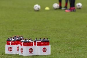 Getränkeflaschen beim Training