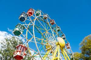 Giant ferris wheel in an amusement park  Flip 2019