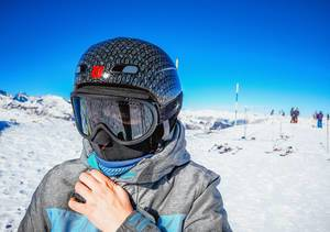 Girl on ski resort  Flip 2019