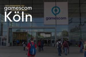 Glasfassade und Eingang der weltgrößten Videospiel-Ausstellung Gamescom in Köln