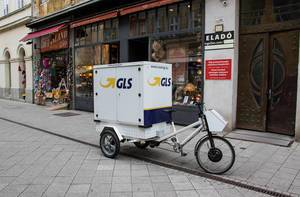 GLS bike at street in Budapest