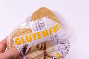 Glutenfreies Brot in Verpackung