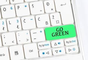 Go green keyboard button