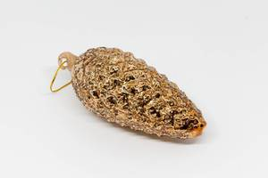 Golden pine cone for Christmas tree