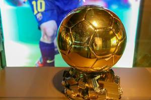 """Golden """"Winner of the Ballon d"""