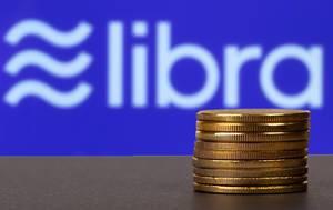 Goldene Geldmünzen gestapelt vor dem Libralogo