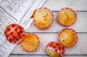 Goldfarbene Muffins