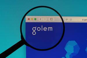 Golem logo under magnifying glass