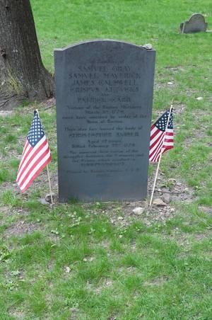 Grabmal der Opfer des Massaker von Boston, USA