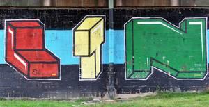 Graffitti auf Mauer