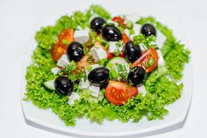 Greek salad with fresh vegetables  Flip 2019