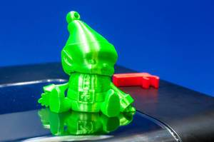 Green dwarf printed with a IIIP 3D printer