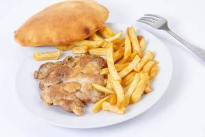 Grilled Chicken Drumstic with French Fries and bread (Flip 2019)