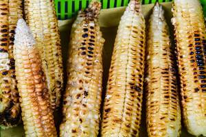 Grilled corn on green container (Flip 2019)