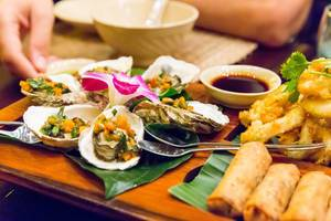 Grilled Oysters with Spring Onion Salsa