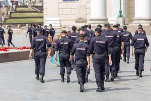 Grosses Polizeiaufgebot bei der Fußball-WM in Moskau