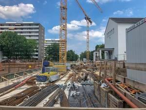 Großbaustelle am Clarenbachstift Köln an der Aachener Straße