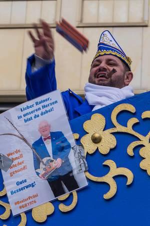 Große Braunsfelder wünschen Präsident Rainer Tuchscherer gute Besserung - Kölner Karneval 2018
